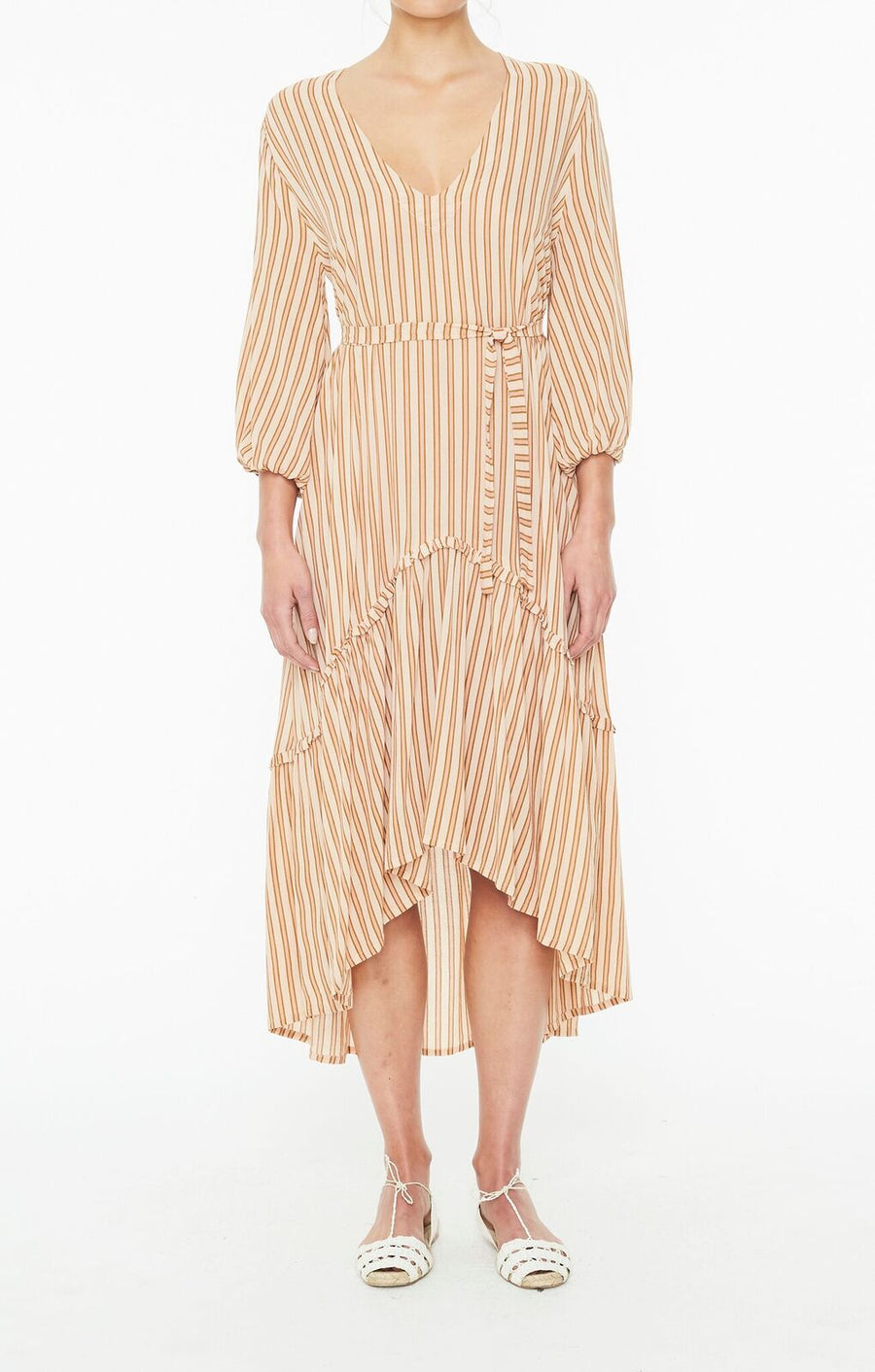 FAITHFULL THE BRAND - Matilda Peasant Dress - Almeria Stripe