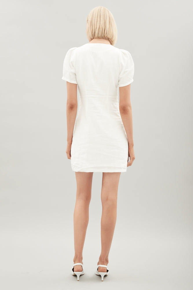 HANSEN & GRETEL - Bernie Linen Dress - White