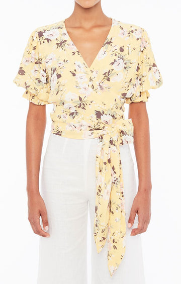 FAITHFULL THE BRAND - MALI WRAP TOP - POMELINE FLORAL