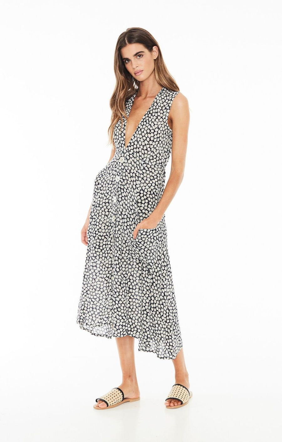FAITHFULL THE BRAND - Blohm Midi Dress - Azalea Print