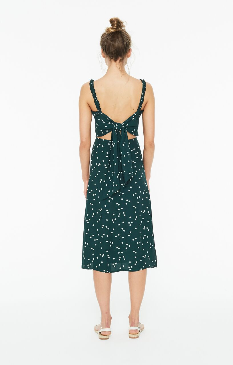 FAITHFULL THE BRAND - Gizele Midi Dress - Linnea Print - Green