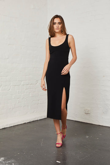 BEC & BRIDGE - Elle Midi Dress - Black