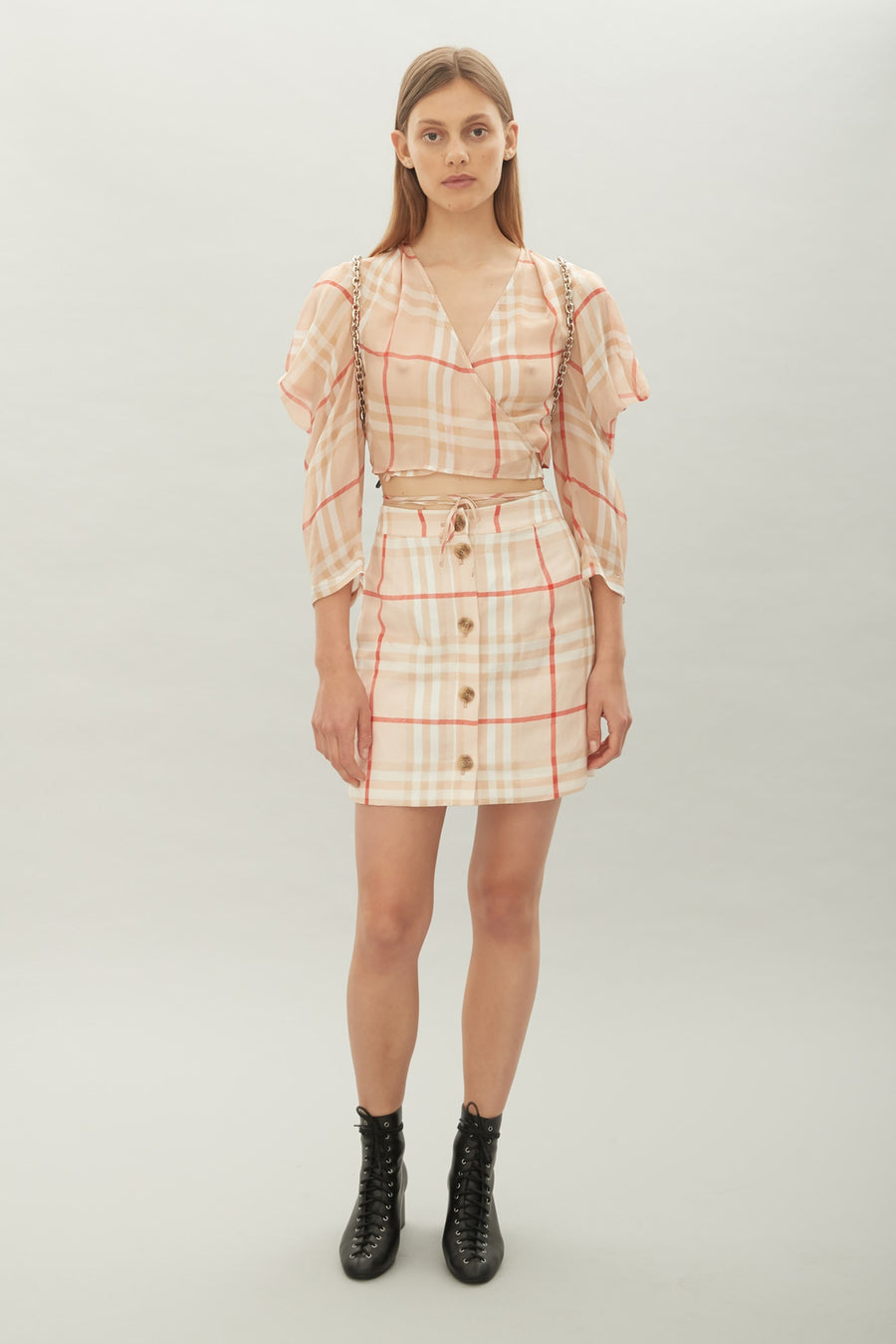 HANSEN & GRETEL - Briony Skirt - tan Check
