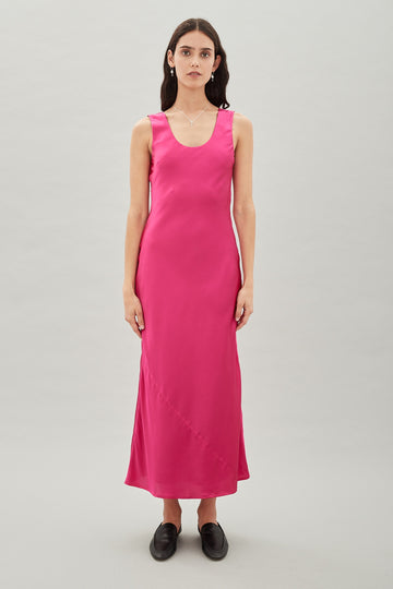 HANSEN & GRETEL - ZEFRON SILK DRESS - AMARANTH