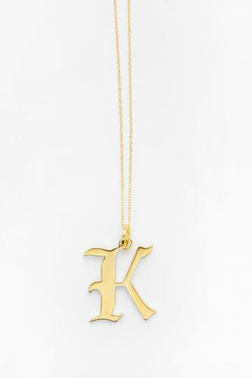 RELIQUIA - Gold Letter K Necklace