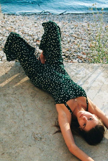 FAITHFULL THE BRAND - Lea Jumpsuit - Linnea Dot Print - Green