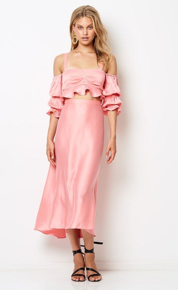 BEC & BRIDGE - Hibiscus Islands Skirt - Flamingo Pink