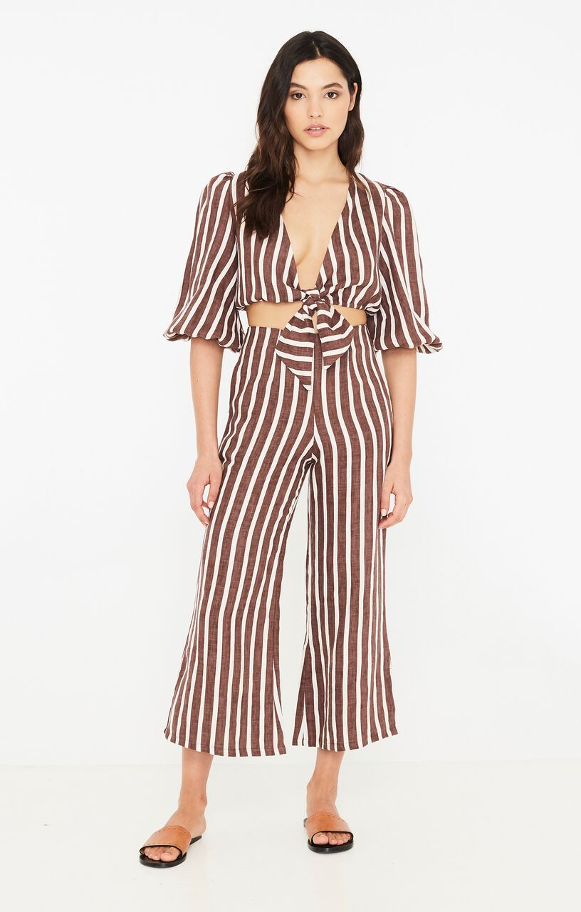 FAITHFULL THE BRAND - La Guardia Top - Mazur Stripe - Grape
