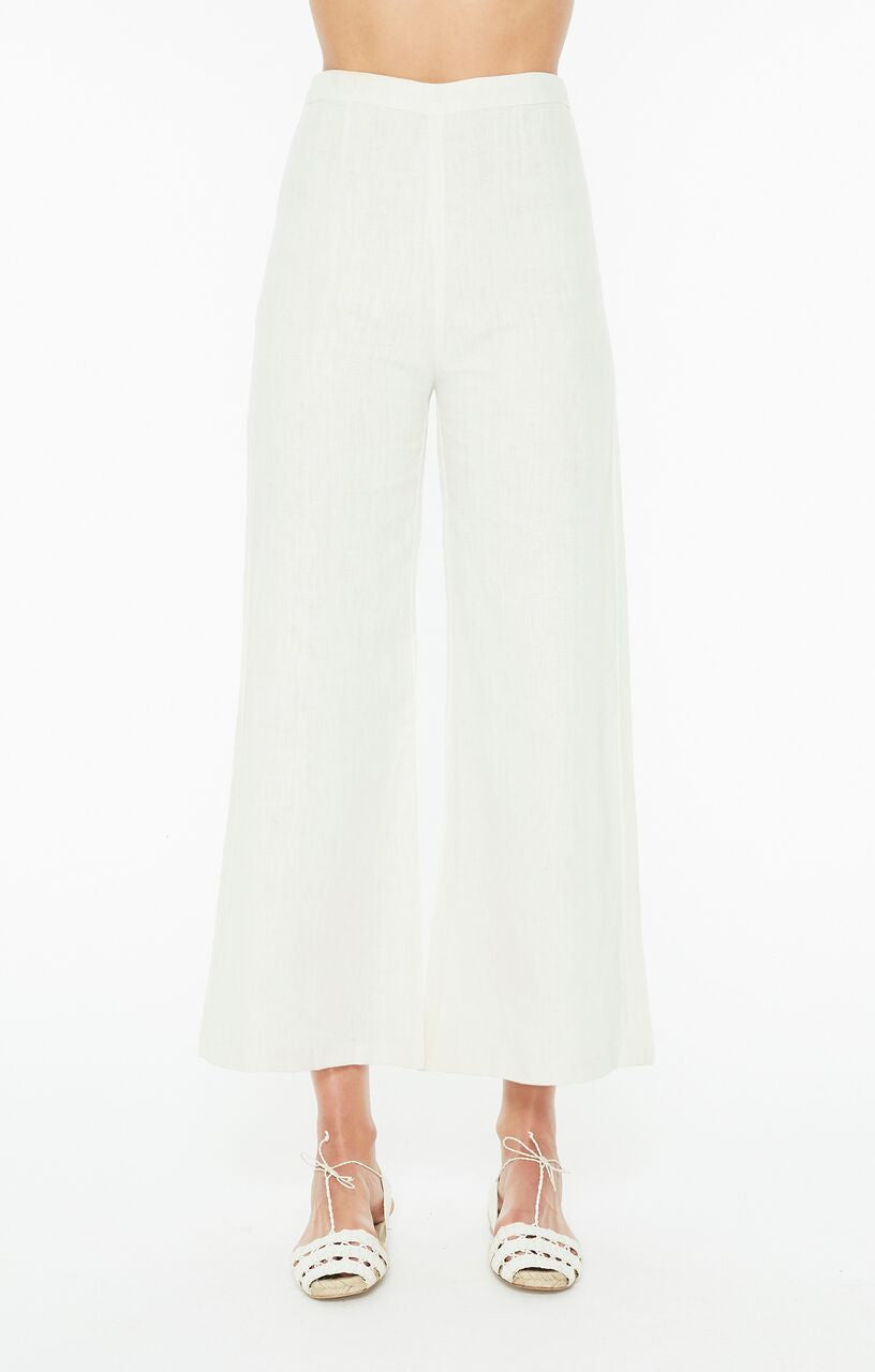 FAITHFULL THE BRAND - Scelsi Pant - Plain Ecru Linen