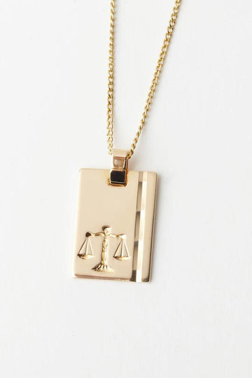 RELIQUIA - Gold Star Sign Necklace - LIBRA