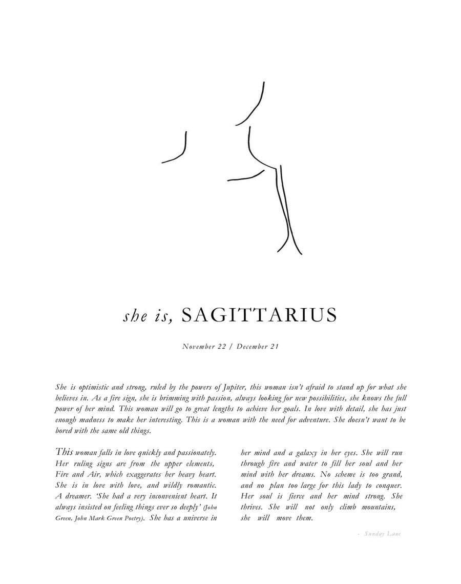 SUNDAY LANE - Sagittarius