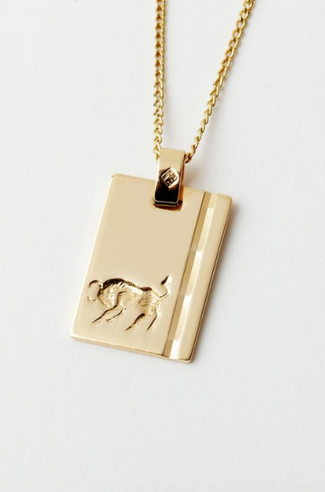RELIQUIA - Gold Star Sign Necklace - TAURUS