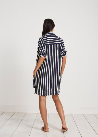 FAITHFULL THE BRAND - Debbie Shirt Dress - Mazur Stripe Print