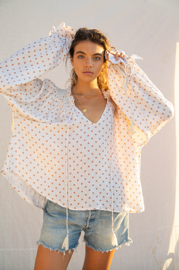 KINGA CSILLA - Spot Linen Blouse (BACK IN STOCK)