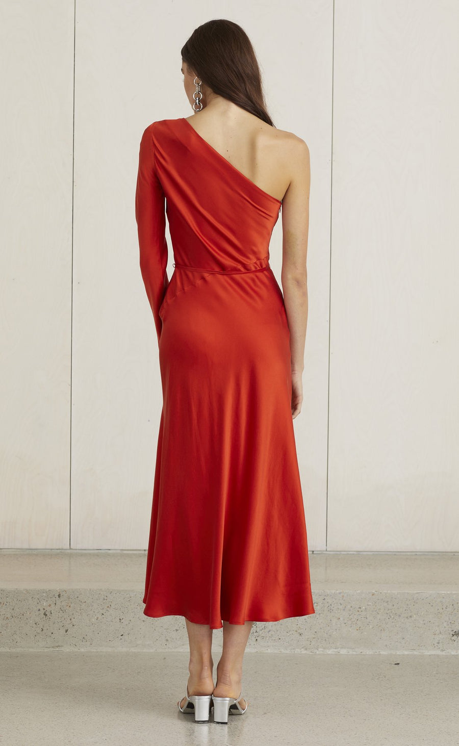 BEC & BRIDGE - CLASSIC ONE SHOULDER DRESS - FIRE