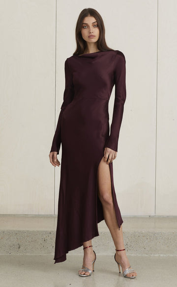 BEC & BRIDGE - CAROLINE MIDI DRESS - PLUM