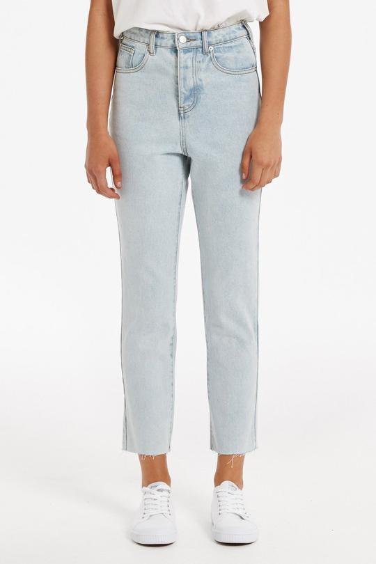 ZULU & ZEPHYR - ZED HIGH RISE STRAIGHT JEAN - LIGHT BLUE