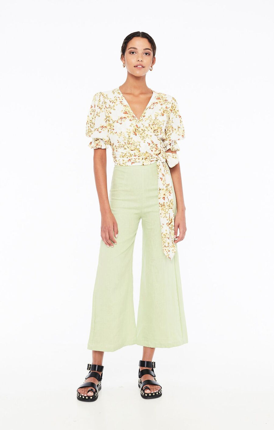 FAITHFULL THE BRAND - MALI WRAP TOP - GOLDIE FLORAL