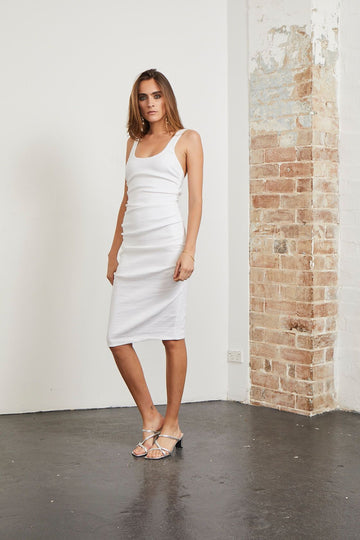 BEC & BRIDGE - Hey Baby Midi Dress - White