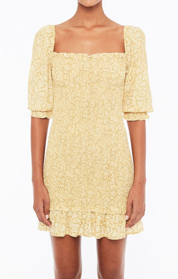 FAITHFULL THE BRAND - ES SAADA MINI DRESS - PETRA SNAKE