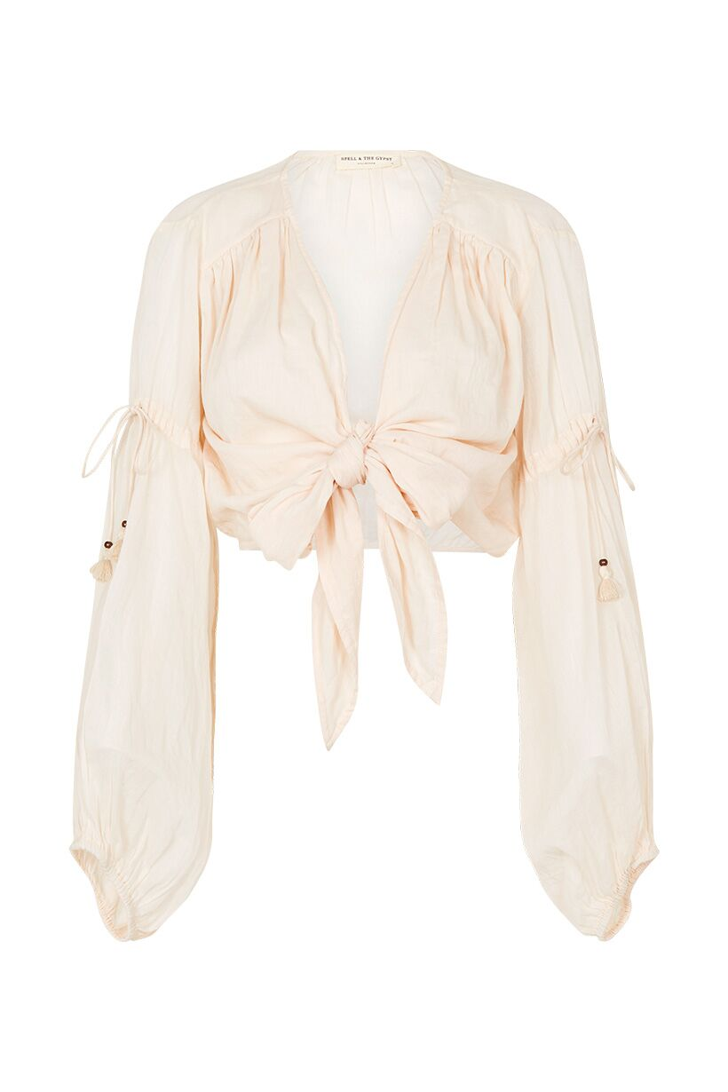 SPELL & THE GYPSY - Seashell Organic Tie Top - Ivory