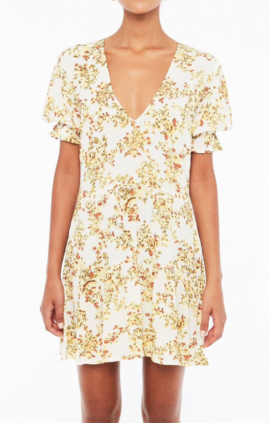 FAITHFULL THE BRAND - ANNA DRESS - GOLDIE FLORAL