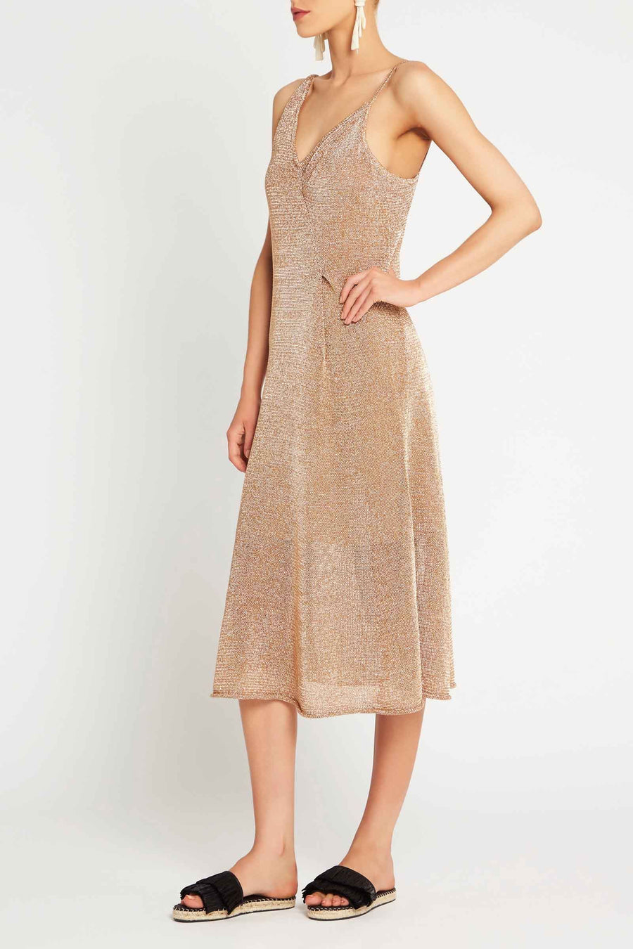 SASS & BIDE - Liquid Metal dress - Copper