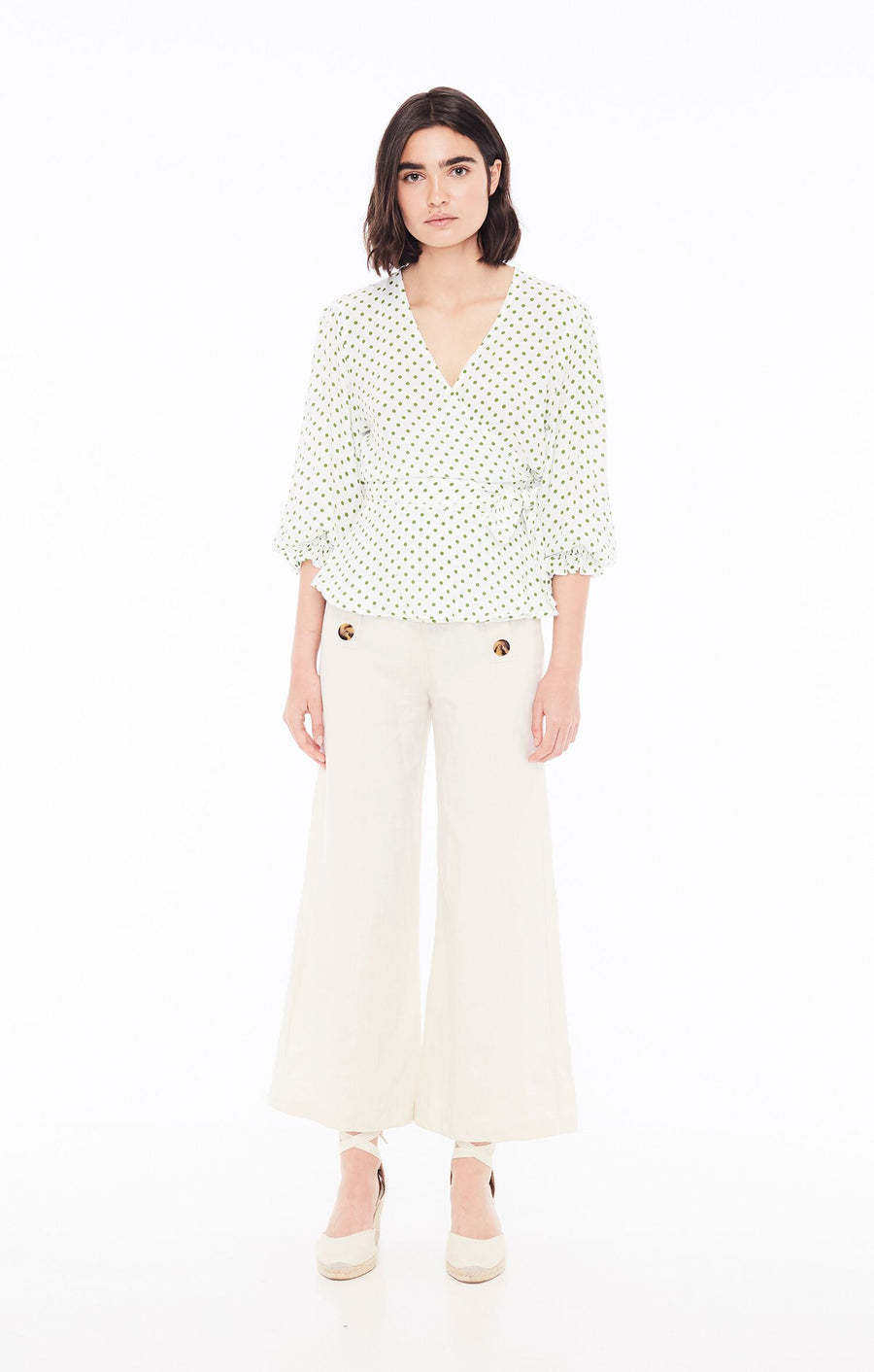 FAITHFULL THE BRAND - Lavender Top - Lula Dot Green