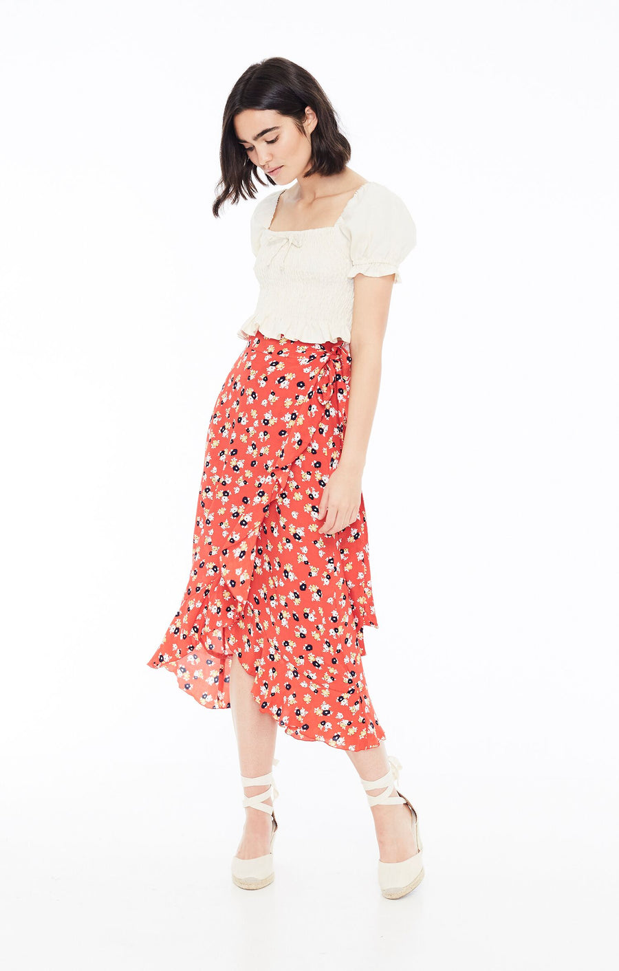 FAITHFULL THE BRAND - Celeste Wrap Skirt - Jasmin Floral