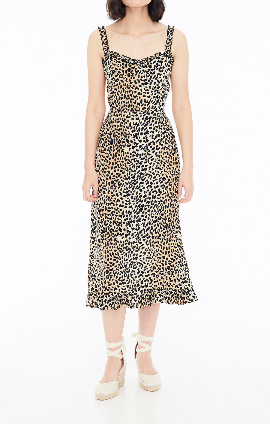 FAITHFULL THE BRAND - Noemie Midi Dress - Le Clinq Animal Print