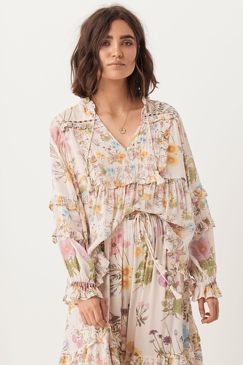 SPELL & THE GYPSY - Wild Bloom Blouse - Cream