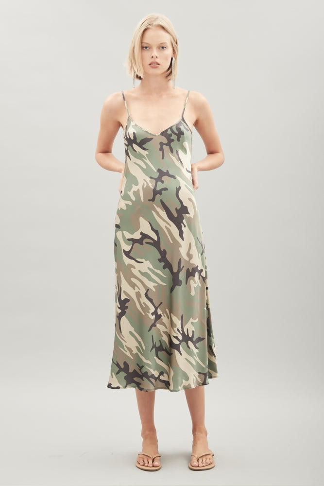 HANSEN & GRETEL - Sarah Silk Dress - Camo