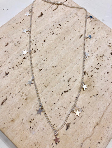SARDIS - STAR NECKLACE - SILVER