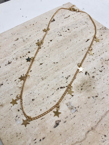 SARDIS - STAR NECKLACE - GOLD