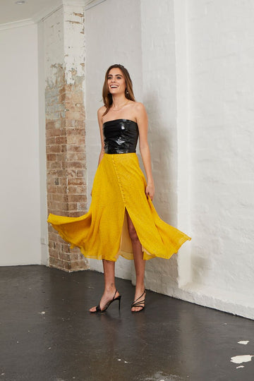 BEC & BRIDGE - Hibiscus Golden Skirt