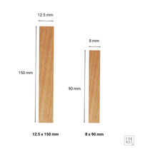Wooden wicks (flat) size difference - Fraendi