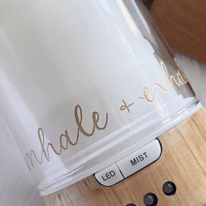 (PRE-ORDER) Inhale + Exhale Glass Diffuser