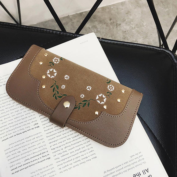 Embroidered Leather Wallets