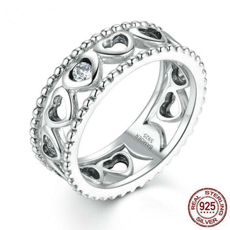 Romantic Heart to Heart Ring