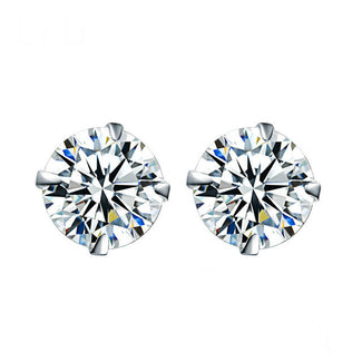 925 Sterling Silver Cubic Zircon Stud Earrings For Women