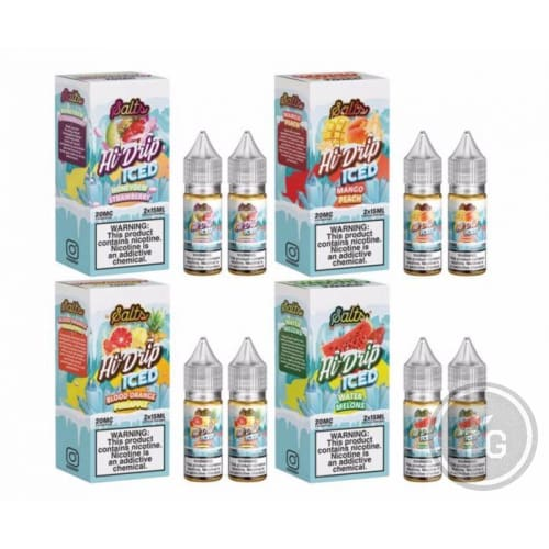 HI-DRIP ICED SALTS (2X15ML) SALT NIC BY TEARDRIP JUICE CO.