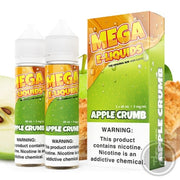MEGA E-LIQUIDS - OVEN BAKED APPLE CRUMB (120ML TWIN PACK)