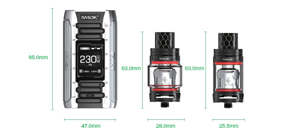 SMOK E-Priv 230W TC Kit with TFV12 Prince Tank