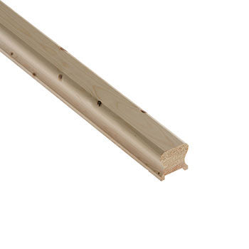 Cheshire Mouldings Benchmark Pine 41mm Groove Handrail (2.4m,4.2m)