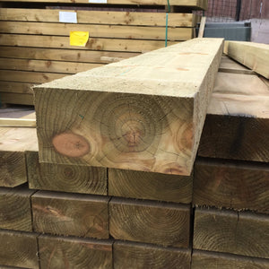New Green Treated Softwood Railway Sleepers 200mm x 100mm x 2.4m