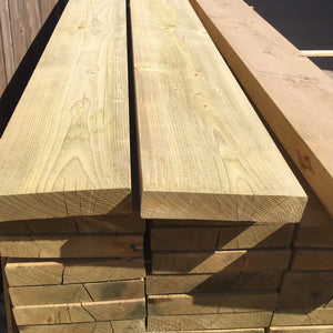 Treated Smooth C24 Sawn Carcassing 47mm x 200mm (EX 8X2), 4.8 metre length