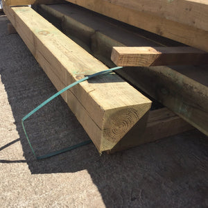 150mm x 150mm (6x6) Green Tanalised Gate Post 3.0m
