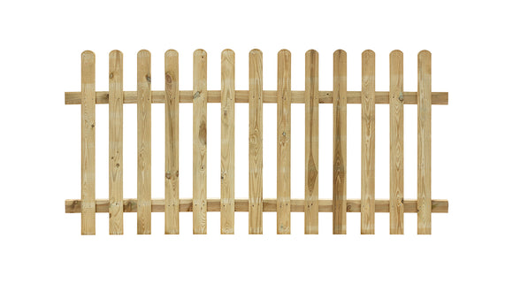 Treated Round Top Palisade Fence Panel - 1.8m x 90cm