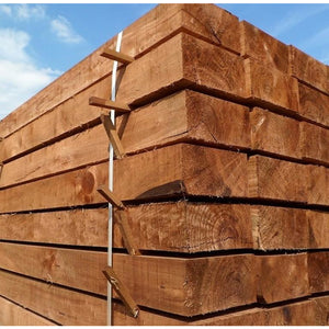 New Brown Treated Softwood Railway Sleepers 250mm x 125mm x 2.4m