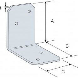 Simpson Strong-Tie Angle Tie Bracket 38x50x35